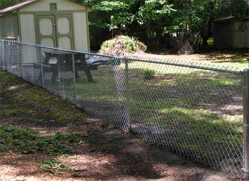 chain-link fence, Raleigh, NC