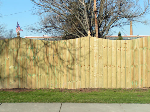 wood privacy fence, Raleigh, NC